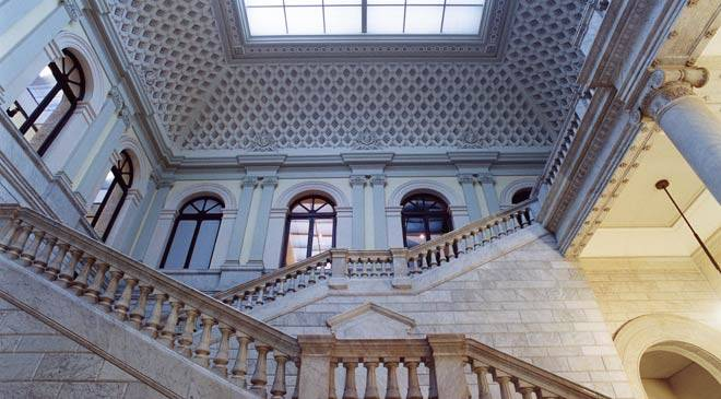 Staircase. Entrance hall in the Spanish National Library. Madrid © Ministerio de Cultura