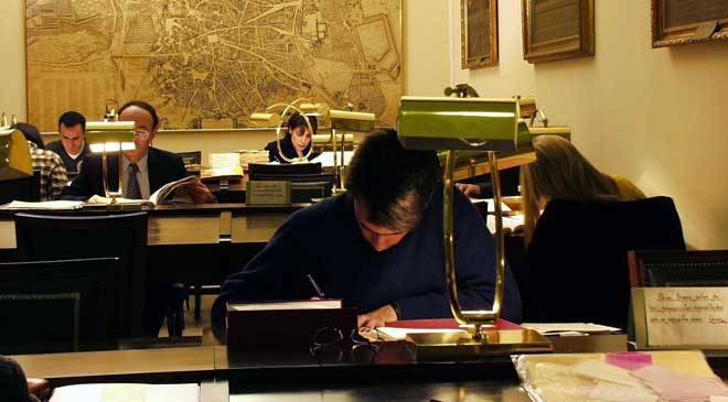 Royal Academy of History Library. Reading room. Madrid. © Real Academia de la Historia.