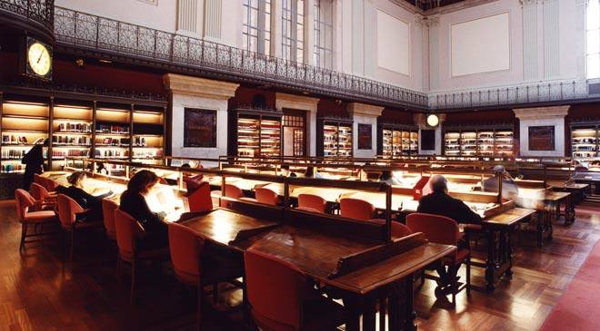 Reference room in the Spanish National Library. Madrid © Ministerio de Cultura