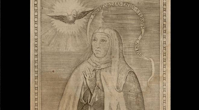 Illustration of Santa Teresa contained in 'The Books of Mother Teresa de Ieusus, founder of the Discalced Carmelite Order'. © Biblioteca Nacional de España
