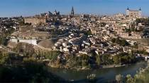 View of the city of Toledo, with the landmarks of the cathedral and the Alcázar fortress © Turespaña