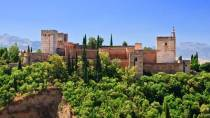 General view of the Alhambra palace. Granada.