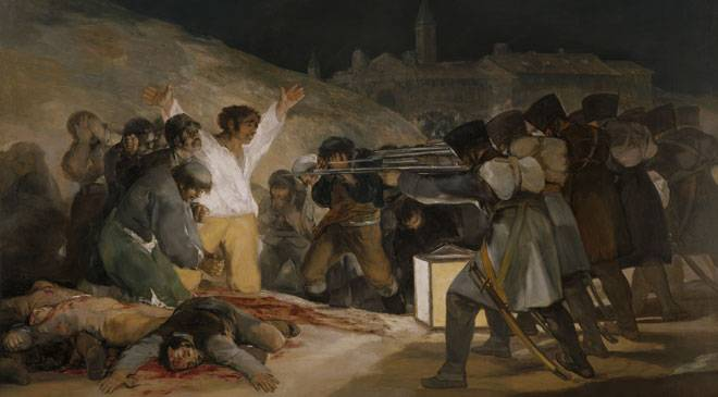 Francisco de Goya y Lucientes, 'The 3rd of May, 1808, or The Executions on Príncipe Pío hill', 1814 © Madrid, Museo Nacional del Prado