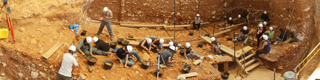Excavations at the Gran Dolina in the Atapuerca Mountains © Mario Modesta Mata