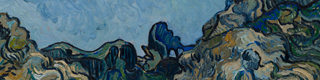 Detail from: Vincent van Gogh, 'Montagnes à Saint-Rémy (Mountains at Saint-Remy)', Saint-Rémy-de-Provence, July 1889. Oil on canvas, 72.8 x 92 cm. Solomon R. Guggenheim Museum, New York Thannhauser Collection, donation, Justin K. Thannhauser 78.2514.24 © Solomon R. Guggenheim Foundation, Nueva York (SRGF)