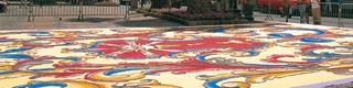 Carpet of flowers in a square during the festival of Corpus Christi in San Cristóbal de la Laguna © Turespaña