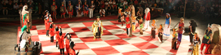 View of a Living Chess theatrical performance in Xàbia-Jávea © Rafa Pérez and others. Patronato de Turismo de la Costa Blanca
