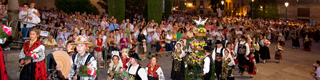 Floral offering to the Virgin of La Vega © Turismo de Salamanca
