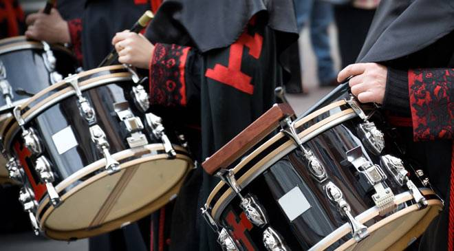 Drums during an Easter Week procession