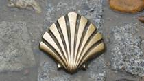 The Way of Saint James. The scallop shell, symbol of the pilgrims' route