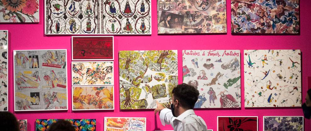 Exposition de Francis Montesinos au Musée valencien de l'illustration et la modernité (MuVIM). Photo : Abuaila