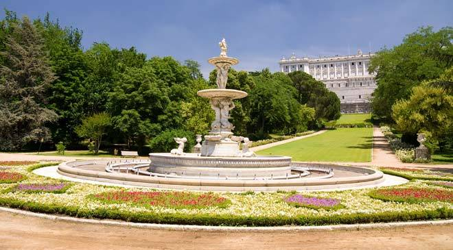 campo del moro gardens gardens in madrid at spain is culture