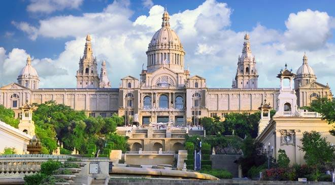 Parque de montjuic gardens in barcelona at spain is culture - Hotel palace de barcelona ...