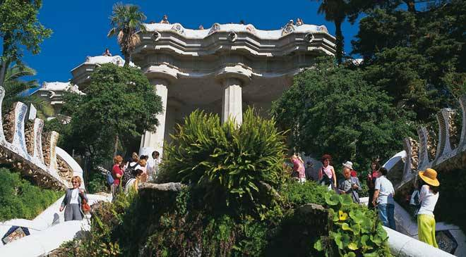 Parc g ell jardins barcelone sur spain is culture for Barcelona jardin gaudi