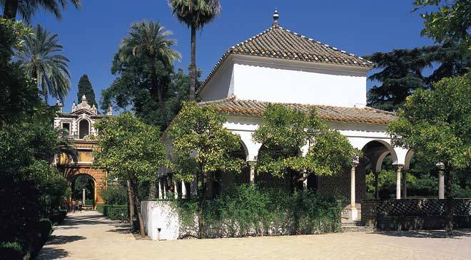 Gardens of the real alc zar palace in seville gardens in seville at spain is culture - Jardines de sevilla ...