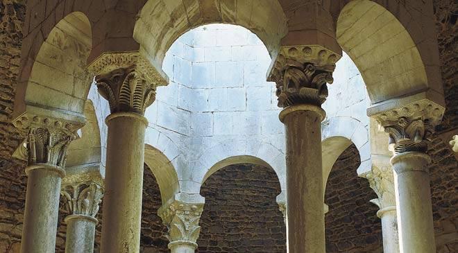 Arab baths monuments in gerona girona at spain is culture - Banos arabes de girona ...