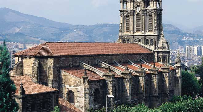 Begoña Basilica: monuments in Bilbao, Vizcaya - Bizkaia at Spain is culture.