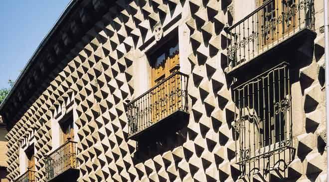 Monuments in Segovia, Spain: Casa de los Picos. Cultural ...