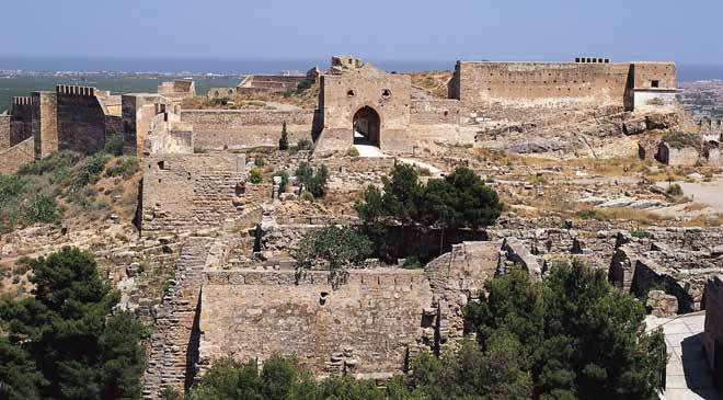 Sagunto Castle: monuments in Sagunto, Valencia at Spain is culture.