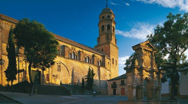 Baeza Cathedral: monuments in Baeza, Jaén at Spain is culture.