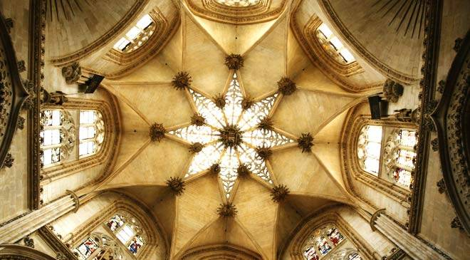 Interior of the vault. Burgos cathedral
