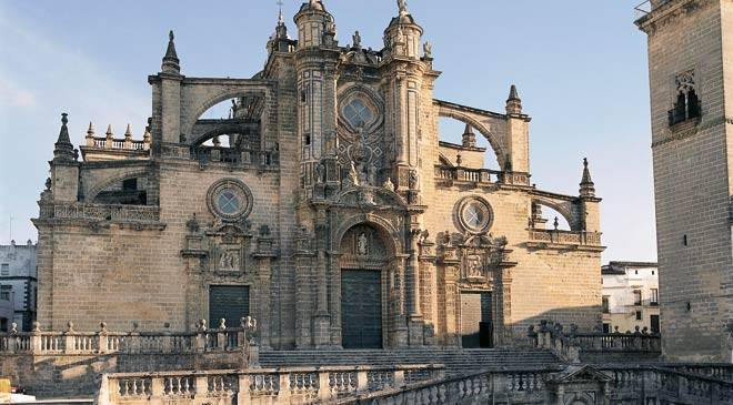 Façade of the cathedral of Jerez de la Frontera. Cadiz © Turespaña