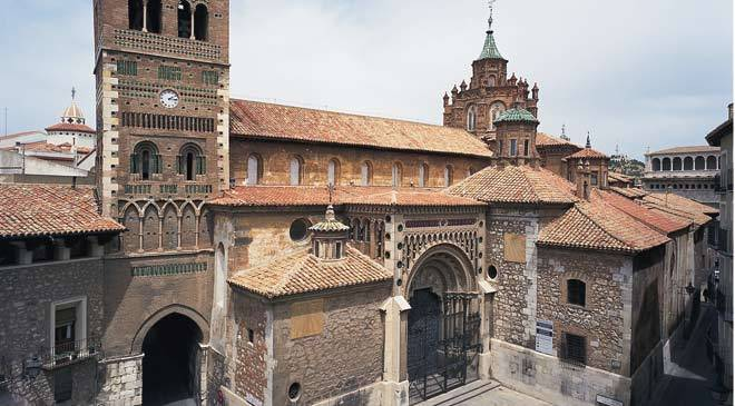 Santa María de Mediavilla Cathedral: monuments in Teruel at Spain is culture.