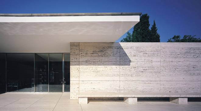 pavillon de mies van der rohe monuments barcelone sur spain is culture. Black Bedroom Furniture Sets. Home Design Ideas