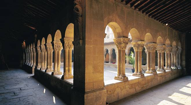 San Pedro el Viejo Church: monuments in Huesca at Spain is culture.
