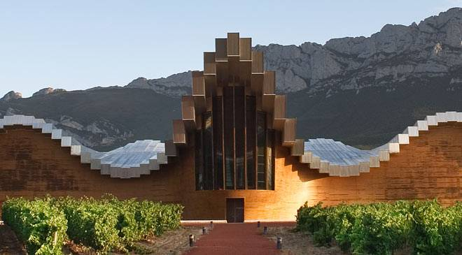 Bodegas Ysios Monuments In Laguardia Alava Araba At Spain Is