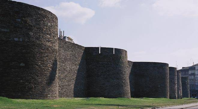 Roman walls in Lugo: monuments in Lugo at Spain is culture.