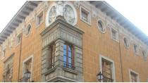 Detail of the façade of the Palace of the Marqueses de Valverde. Valladolid.
