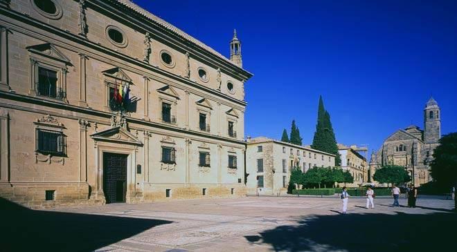 Plaza de Vázquez de Molina Square: monuments in Úbeda, Jaén at Spain is culture.