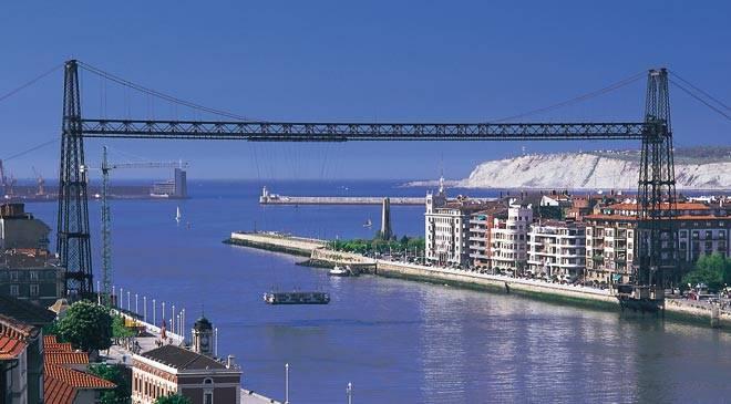Vizcaya suspension bridge monuments in getxo vizcaya for El jardin portugalete
