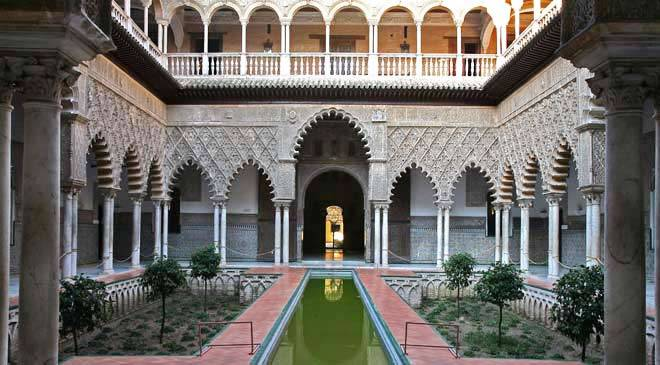 Real Alcázar palace in Seville: monuments in Seville at ...