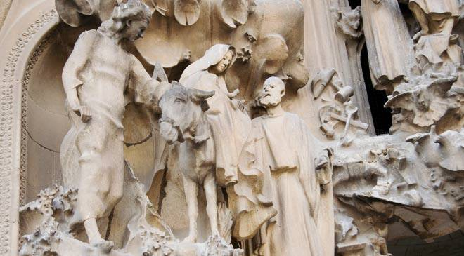 Nativity faade of the Basilica of La Sagrada Familia monuments