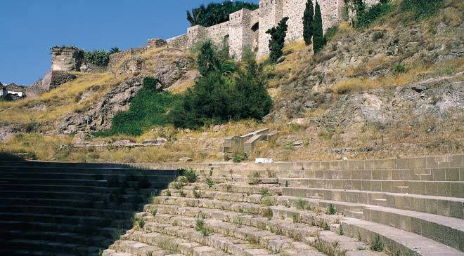 Stands in the Roman theatre in Malaga © Turespaña