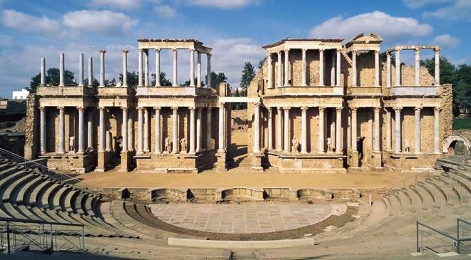 古罗马的风景照