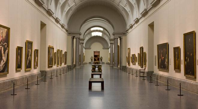 Interior of the central gallery in the Villanueva building © Madrid, Museo Nacional del Prado