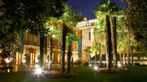 View of the museum building by night. Villahermosa Palace and restaurant © Museo Thyssen-Bornemisza