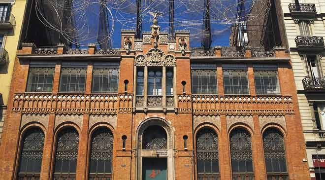 Partial view of the façade of the Antoni Tàpies Foundation Museum. Barcelona © Turespaña