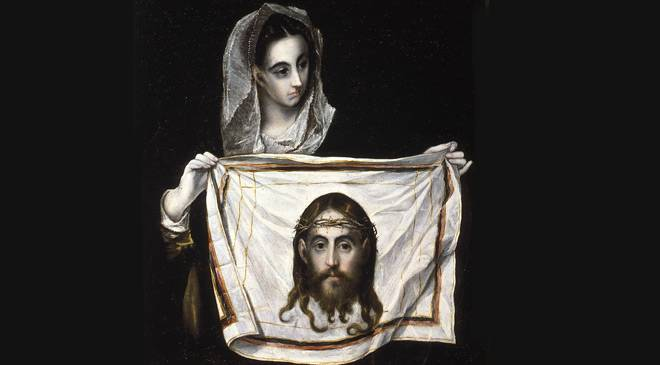 El Greco. 'Veronica with the Holy Face', between 1577-1580. Santa Cruz Museum. Toledo © Ministerio de Cultura