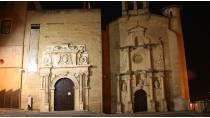 View of the exterior of the Museum of Navarre, illuminated © Archivo de Turismo 'Reyno de Navarra'