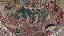Detail of the tapestry of the Creation in the Chapterhouse Museum. Girona.