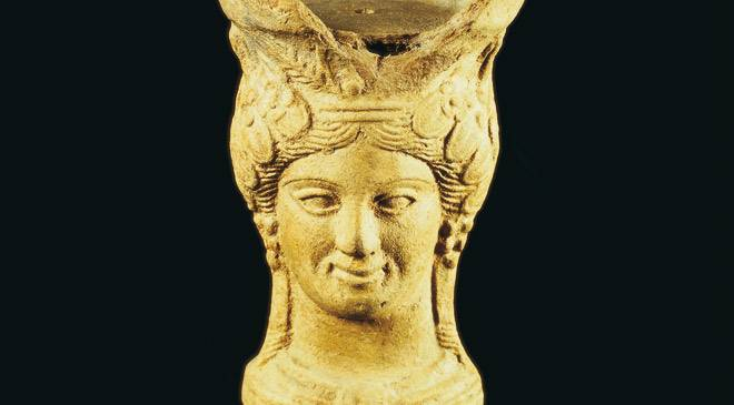 Censer with the image of Tanit, in the Ibiza and Formentera Archaeology Museum. Ibiza © Turespaña