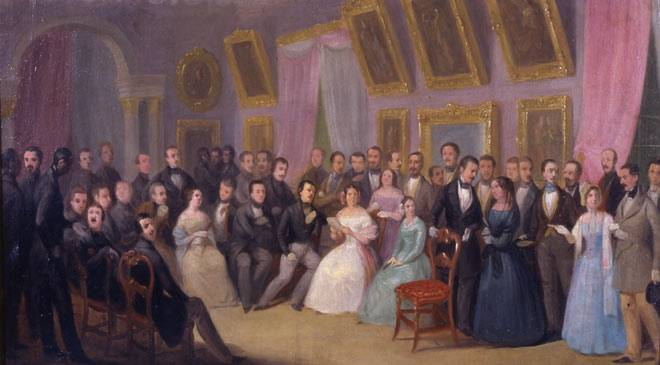 Antonio Mª de Esquivel. 'Literary meeting. Prize-giving in the Lyceum'. National Museum of Romanticism © Ministerio de Cultura