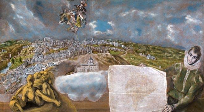 View and plan of Toledo. El Greco Museum. Toledo © Museo Nacional del Prado
