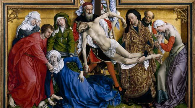 Roger van der Weyden, 'The Descent from the Cross', 1435. Detail © Madrid, Museo Nacional del Prado