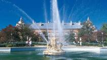 View of Aranjuez Palace with the Ceres Fountain in the foreground. Aranjuez © Turespaña