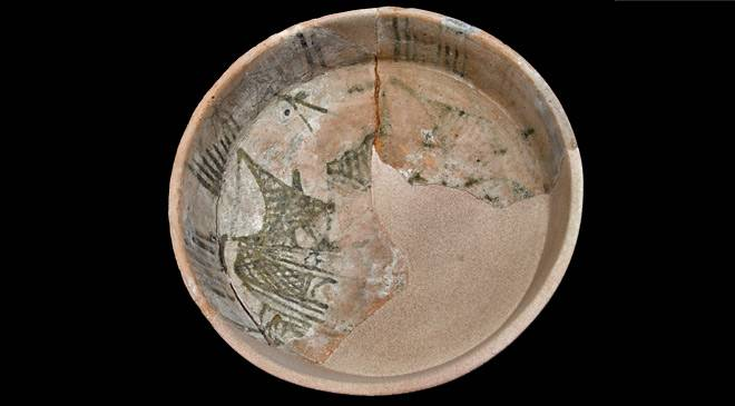Dish with ship. National Museum of Underwater Archaeology. ARQUA © Ministerio de Cultura